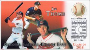 18-144, 2018, Baseball Hall of Fame, Pictorial Postmark, Event Cover, Jim Throme