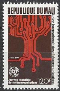 Mali 279  MNH  ITU Telecommunications Day 1977