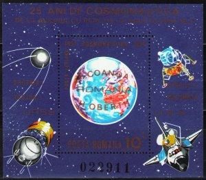 1983 Romania 3939/B192 25 years of the launch of Russian Sputnik 1