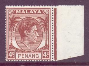 Malaya Penang Scott 6 - SG6, 1949 George VI 4c MH*