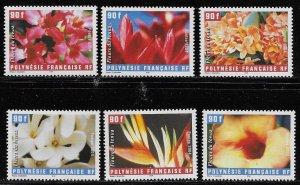 French Polynesia Scott #'s 884a-f MNH