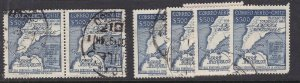 CHILE ^^^^^sc# C200  ( x6 )  used  high values AIRPOSTS$$@ dc711chile