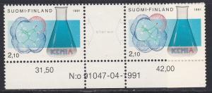 Finland # 876a, Chemist Society Centennial, NH, 1/2 Cat.