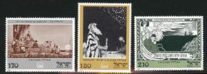 ISRAEL Scott 625-627 MNH** 1977 stamp without Tab set