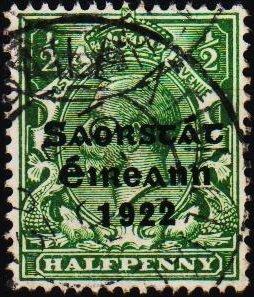 Ireland. 1922 1/2d S.G.52 Fine Used