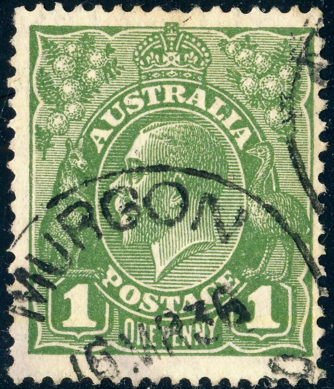 AUSTRALIA - 1936 -  MURGON / QUEENSLAND  CDS on SG125 1d Green - VFU