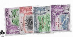 Dominica #137-140 MH - Stamp - CAT VALUE $2.70