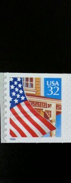 1997 32c Flag over Porch, SA Coil Scott 3133 Mint F/VF NH