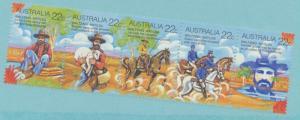 Australia Scott #741 Strip of 5, Waltzing Matilda Poem Issue From 1980 - Free...
