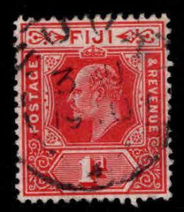 FIJI Scott 72 Used wmk KEVII stamp 1906 wmk 3 Carmine