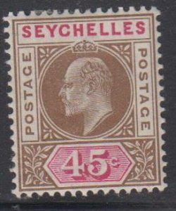 SEYCHELLES - Sc 45 / MINT HR - Edward VII