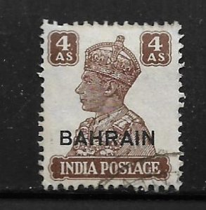 BAHRAIN, 48, USED, INDIAN STAMPS OF 1941-43, OVPTD
