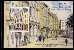 Jersey Sc 1381 2009 £ 3 Broad St P.O. stamp sheet mint NH