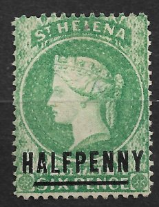 1984 St Helena 33 Queen Victoria ½p surcharged on 6p used