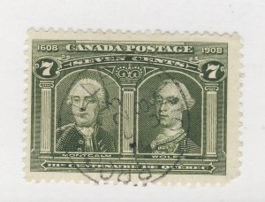 Canada 1908 Quebec Used Stamp #100-7c Used SON F/VF Guide Value = $100.00