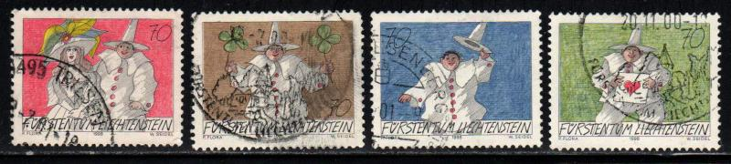 Liechtenstein # 1121-14 ~ Cplt Set of 4 ~ Used, HMR ~ cv 3.80