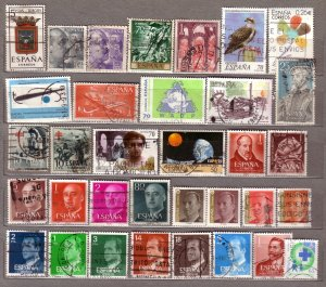 ESPANA SPAIN Different Used Stamps Lot #533