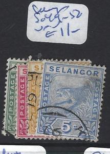 MALAYA  SELANGOR    (P3007BB)  TIGER   1C-5C   SG 49-52   VFU