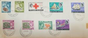 O) 1966 PITCAIRN ISLANDS, RED CROSS CENTENARY ISSUE SCOTT CD315-JOHN ADAMS AND B