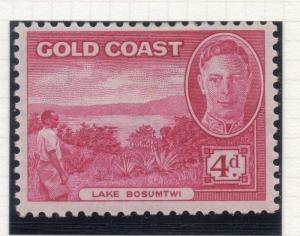 Gold Coast 1938 Early GVI Issue Fine Mint Hinged 4d. 107510
