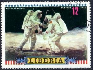 Apollo 16, US Moon Mission, 1972, Liberia stamp SC#602 used