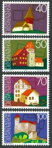 LIECHTENSTEIN 1975 EUROPEAN ARCHITECTURAL YEAR  Set Sc 572-575 MNH