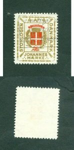 Denmark. Poster Stamp. Masonic,Freemason Grandlodge. Johannes Seal. Cancel
