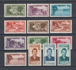 Vietnam 1951 Full Set  Sc #1/13 MLH Luxe $150 (Perfect White Shiny Gum)