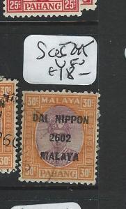 MALAYA JAPANESE OCCUPATION PAHANG (PP0803B) DN 30C SG SG245   VFU