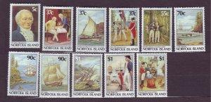 J23166 JLstamps 1987-8 norfolk island set mnh #426-36 designs