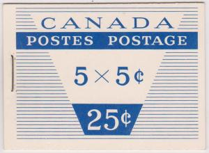 Canada #BK52d 5c Cameo - Front Cover Design 65mm Wide - Cat. $30.