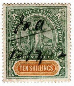(I.B) Cape of Good Hope Revenue : Stamp Duty 10/- (1898)