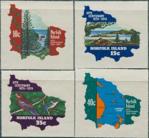 Norfolk Island 1974 SG158-161 UPU set MNH