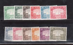 Aden #1 - #12 Very Fine Mint Lightly Hinged Set