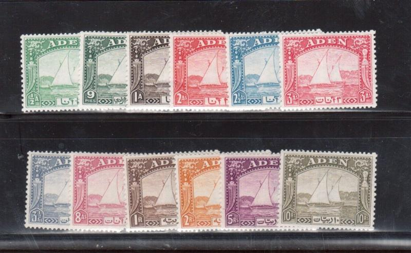 Aden #1 - #10 Very Fine Mint Lightly Hinged Set