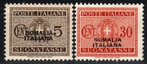 Somalia #J42, J46  F-VF Unused CV $10.10 (X8265)