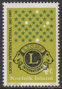 Norfolk Is. 114 MNH - Lions Intl.