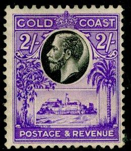 GOLD COAST SG111, 2s black & brt violet, M MINT. Cat £35.