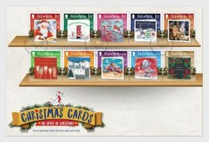 Stamps of Isle of Man 2019. - Christmas Cards 2019 - Christmas Spirit - First Da