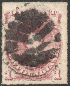 NEWFOUNDLAND-1877 1c Lake-Purple Sg 40 AVERAGE USED V46296