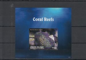 Union Island Grenadines St Vincent 2014 MNH Coral Reefs 2v S/S II Marine Maze