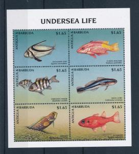 [47280] Antigua & Barbuda 1998 Marine life Fish MNH Sheet