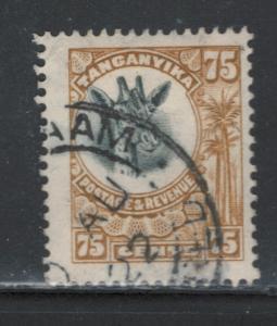 Tanganyika 1922 Giraffe 75c Scott # 22 U