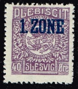 GERMANY STAMP PLEBISCIT 1.ZONE OVERPRINT SLESVIG  40øre MH/OG TYPE 9 X  $91