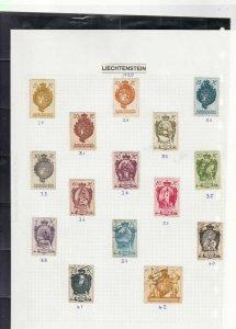 liechtenstein stamps page ref 16878