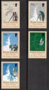 BRITISH ANTARCTIC 1998 History of Mapping; Scott 253-57, SG 281-85; MNH