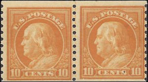 497 Mint,OG,NH... Line Pair.. SCV $260.00