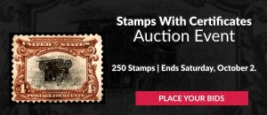 The 22nd Stamps With Certificates Auction