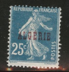 ALGERIA Scott 13 MH* stamp from 1924-1926