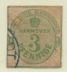 Hanover (German State) Stamp Scott #25, Used, Cut Off #17 - Free U.S. Shippin...